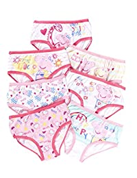 Girls Underwear | Pack of 7 Briefs For Toddlers & Kids