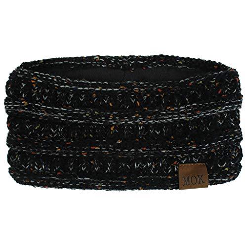 Women Fashion Handmade Knitting Headband - Winter Keep Warm Bohemia Outdoor Sport Elastic Plush Hairband Holiday Gift for Girlfriend (I, one Size)