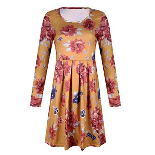 du Ete Orange Manches Jupe Longue Dessus Au Genou Robe Longues Demoiselle Bohme amp; Angelof Imprim Floral Robe Femme fT6aIxxWqP