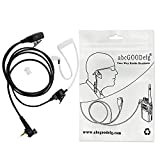 abcGoodefg Covert Acoustic Tube Earpiece Headset Mic for Motorola Tetra Airwave Police Radio MTH800 MTH850 MTP850 MTH650 MTH600 Security Door Supervisor