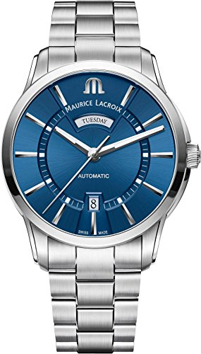 Maurice Lacroix Men's 'Pontos' Swiss Automatic Stainless Steel Casual Watch, Color:Silver-Toned (Model: PT6358-SS002-430-1)