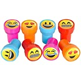 Emoji Smiley Stamps Birthday Party Supplies Loot Bag Accessories 24 Pieces per Unit