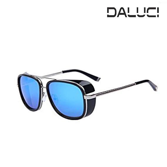35d29a527d02 DALUCI IRON MAN 3 Matsuda TONY Steampunk Sun Glasses For Men Women  (Lens Blue