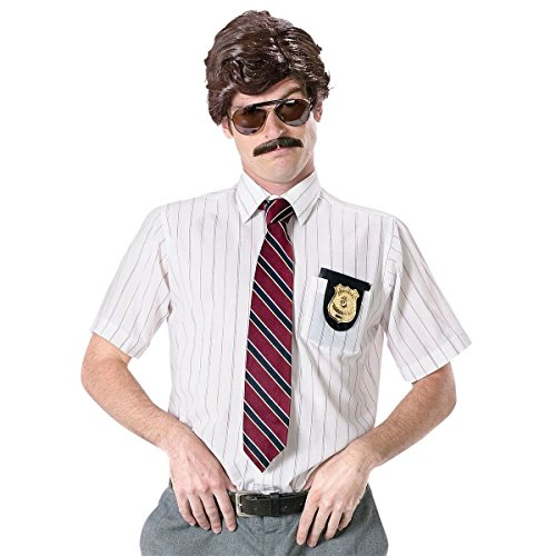 [70s Detective Kit Police Cheesy Cop Funny Wacky FBI Agent Halloween Costume Acsy] (Halloween Costume Ideas 2016 Men)