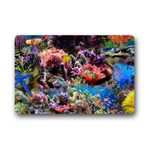 Afagahahs Rectangle Coral Reef, Coral Fish,Sea Life Soft Design and,Thickness 18x30 Inch