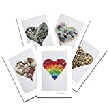 Donald Verger Love Postcard Prints. Sea Glass Heart Variety 10 Pack Number Two. 4x6, 2 of Each. Best for Birthday Cards, Thank You Notes & Invitations. Unique Christmas & Valentine's Day Gifts
