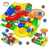 Marble Run Building Blocks Construction Toys Set Puzzle Race Track STEM Learning for Kids (52 Pcs)