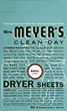 Mrs. Meyer'S Dryer Sheets - Basil - 80 Sheets