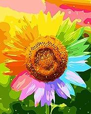 Q-DIRT PRO Ácido Acrílico Pintar por Numeros Kit Pintura al óleo Adultos Y Niños Cuadros Decorativos Canvas 16