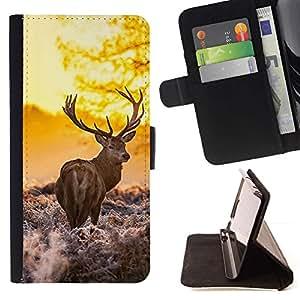 Momo Phone Case / Flip Funda de Cuero Case Cover - La ma?ana Majestuoso Stag - Apple Iphone 6 PLUS 5.5
