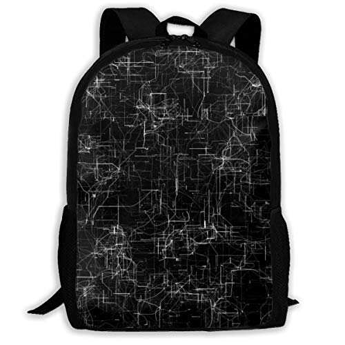 Distorted Data Science School Backpack Oxford Casual Travel Rucksack For Adult Womens Mens, Multipurpose Shoulders Bag Gift (Best Laptops For Data Science Students)