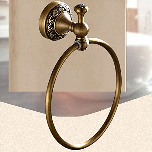 (Bathroom Hardware Set Antique Brass Carved Bathroom Wall Mounted Brass Bathroom Accessories Set Shelf Towel Rack Towel)
