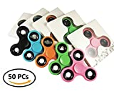 Wholesale Lot 50 PC Fidget Hand Spinners Bundle Bulk EDC Tri-Spinner Desk Toy Stress Anxiety Relief ADHD Student Relax Therapy Pack Combo Wholesale Lot