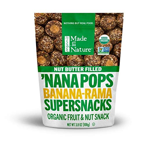 Made In Nature Organic Super Snacks, Figgy Pops (Filled Nana Pop, 3.8 Ounce, Pack of 6) ()