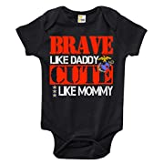 Brave Like Daddy Cute Like Mommy Baby Bodysuit Cute Marines Baby Clothes (3-6 Months)
