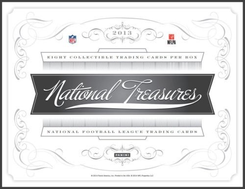 National Treasures Football Hobby Box (2013 Panini National Treasures Football Hobby Box (3 Autographs, 3 Memorabilia, + 2 more cards per box))