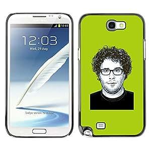 Be Good Phone Accessory // Dura Cáscara cubierta Protectora Caso Carcasa Funda de Protección para Samsung Note 2 N7100 // Comedy Actor Hollywood Famous