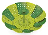 Joseph Joseph Lotus Folding Steamer Basket, Green and Dark Green