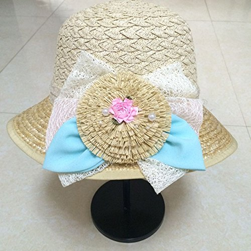 [PLKOI Straw Hat Ms. Summer Flowers Sunscreen Sun Hat Sunshade   Travel Tourism Beach Straw Cooler] (Ms Swimming Costume)