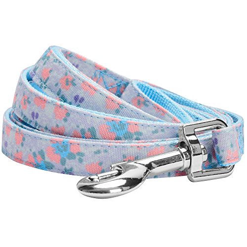 Blueberry Pet 5 Patterns Durable Spring Made Well Lovely Floral Print Dog Leash in Lavender, 5 ft x 5/8, Small, Leashes for Dogs