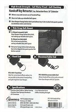 Amazon.com: Gear Keeper – Llave para Esposas Retractor ...