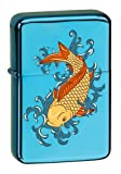 Vector KGM Thunderbird Custom Lighter - Japanese Koi Fish Sparkle Blue