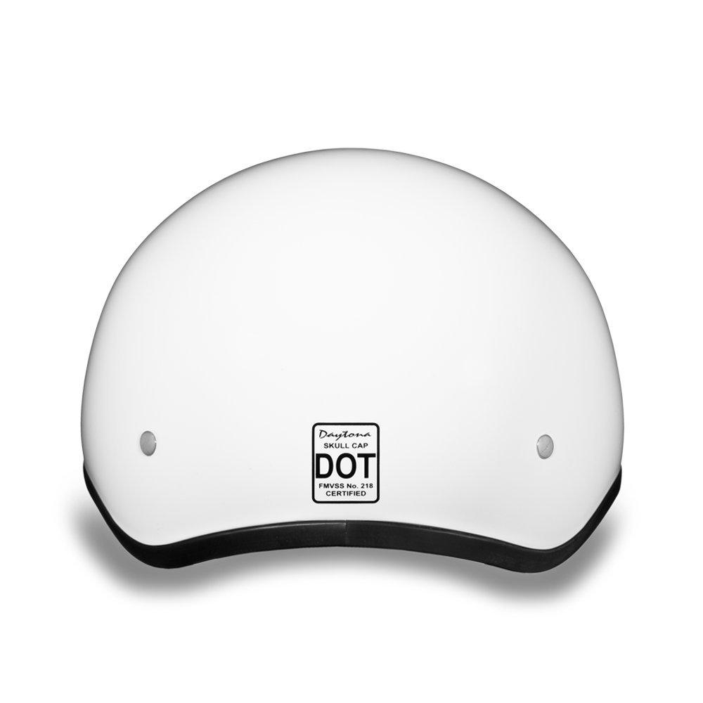 DAYTONA SKULL CAP W//O VISOR D.O.T HI-GLOSS WHITE