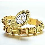 Nextstart Unique Design Snake Shaped Bracelet Style Watch Woman Diamond Ornaments Gfit Casual watch
