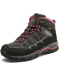 Women's Hiker Waterproof Lightweight Hiking Camping Boot Outdoor High-Traction Grip Backpacking Shoe