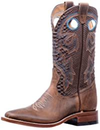 Boulet Western Boots Womens Stockman Square Hillbilly Golden 5182