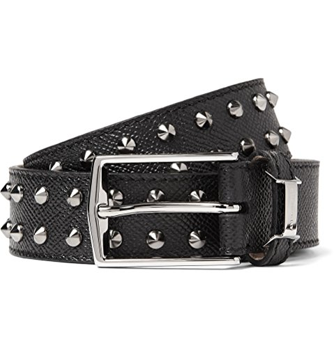 Burberry London Dorton Rock Stud Black Leather Belt Size36