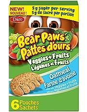 Bear Paws Veggies + Fruits - Oatmeal Cookies, 168 Grams