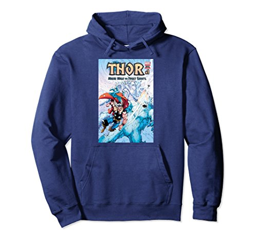 Unisex Marvel Thor Frost Giants Comic Cover Graphic Hoodie 2XL (Thor Womens Hoody)