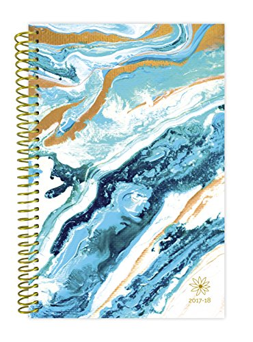 "bloom daily planners 2017-18 Academic Year Daily Planner - Passion/Goal Organizer - Monthly Datebook and Calendar - August 2017 - July 2018 - 6"" x 8.25"" - Geode"