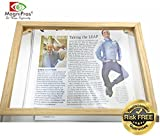 Jumbo Size 3x Magnification As Seen on Tv Table Stand Hands Free Reading Magnifier-wooden Frame/acrylic Lens Fits Over Any Book Size for Large Viewing Area
