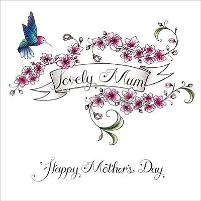 Día de la madre tarjeta - tatuaje estilo - Lovely Mum, colibrí ...