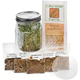 Sprout Life Country Mix Sprouting Kit with 5 Healthy Varieties of Organic Sprouting Seeds & Sprouting Jar - Plus Healthy Sprout Recipe Book Download