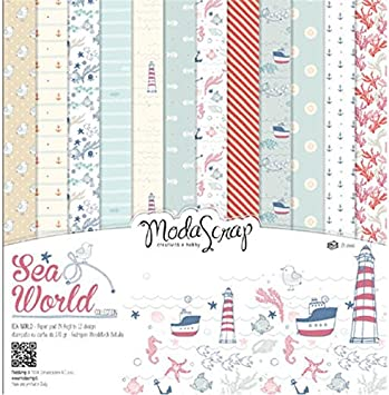 MODASCRAP - Kit Scrapbooking Set Papel Paper Pack