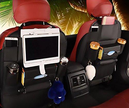 Woworld Luxury 9 bolsillos de piel sintética para asiento trasero de coche, organizador de iPad, soporte para iPhone,...
