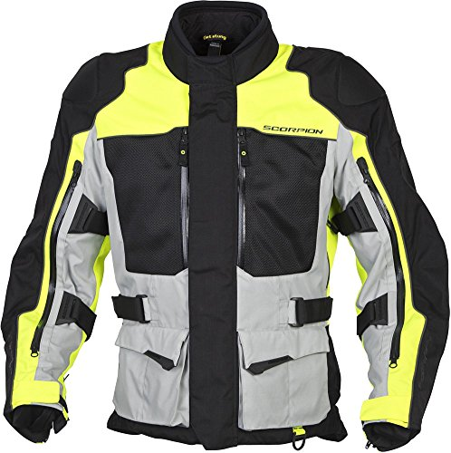 Scorpion XDR Yosemite - Mens Touring Motorcycle Jacket - Hi-Vis Yellow - Large