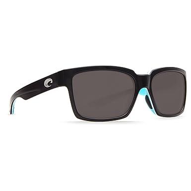 9ee06c80520c Costa Del Mar Playa Sunglasses, Black/White/Aqua Blue, Gray 580P Lens