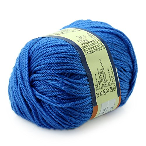 Worsted Wool Cashmere (Joylive Wool Yarn Worsted Sweater Cashmere Knitting Yarn Soft Warm Baby 50g Royal Blue)