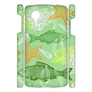 Google Nexus 5 Sea creatures 3D Art Print Design Phone Back Case Customized Hard Shell Protection DF096074