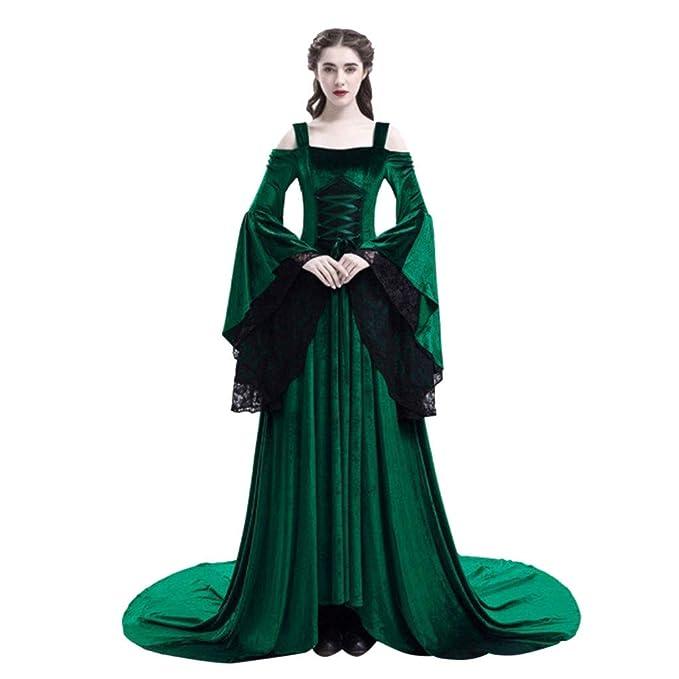OPAKY Vestido Mujer Elegante Disfraz de Medieval Renacentista ...