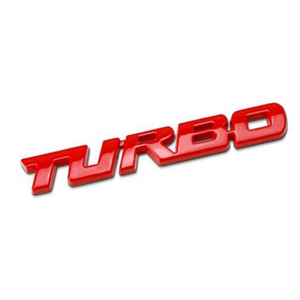 1pcs 3d m/étal turbo carrosserie c/ôt/é garde-boue arri/ère tronc embl/ème badge autocollants