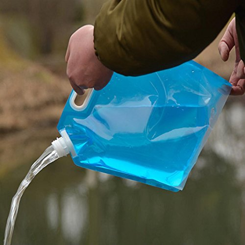 - LtrottedJ 5L/10L Folding Drinking Water Bucket Camping Hiking Water,Container Storage Bag, (B)