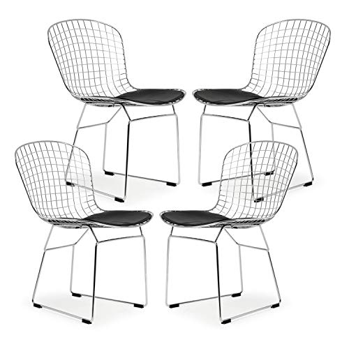 Poly and Bark EM-108-BLK-X4 Side Chair, Black