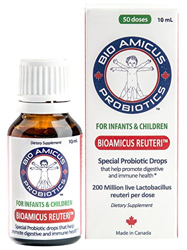 BIOAMICUS REUTERI Infant & Toddler Probiotic Drop with NEW EASY FLOW DROPPER