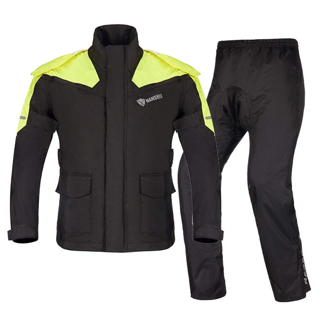 LAXF-raincoat Waterproof Work Suit for Men Hooded Rainwear Jacket & Trouser Suit Windproof and Breathable