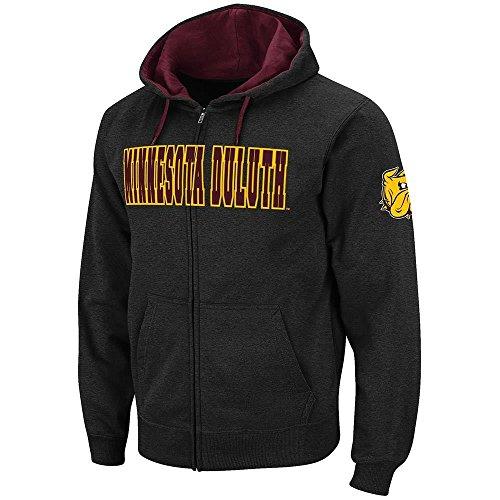 Colosseum Mens Minnesota Duluth Bulldogs Full Zip Hoodie - XL ()